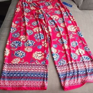 Apartment 9 stretchy palazzo pants flowered red
